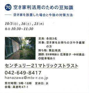 ☆まちゼミ開催情報「空き家活用のための豆知識」